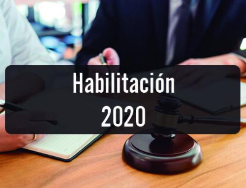 Habilitación 2020