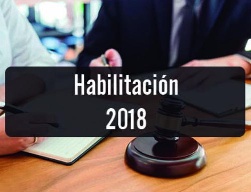 Habilitación 2018